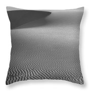 White Sands Sunset Dune Throw Pillow