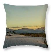 White Sands Sunset Throw Pillow