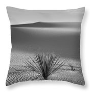 White Sands Yucca Throw Pillow