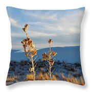 White Sands Yucca Row Throw Pillow