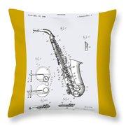 White Sax Throw Pillow