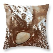 White Shell On Beach  Throw Pillow