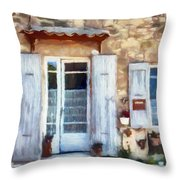White Shutters Throw Pillow