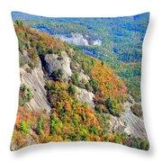 White Side Mountain Fool's Rock In Autumn Vertical Throw Pillow