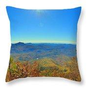 White Side Mountain Nantahala National Forest In Autumn Throw Pillow