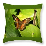 White Spotted Butterfly Throw Pillow