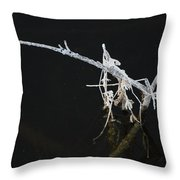 White Stick Throw Pillow