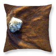 White Stone In Sand Throw Pillow