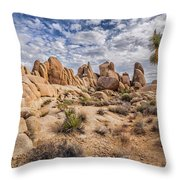 White Tank Rocks Throw Pillow