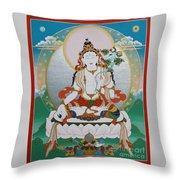 White Tara Chintamani Sita Tara Throw Pillow