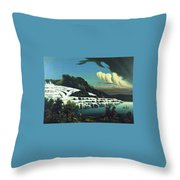 White Terraces, Rotomahana, By William Binzer. Throw Pillow