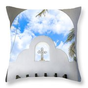 White The Color Of Innocence Throw Pillow