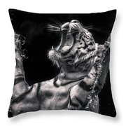 White Tiger Featured In Greece Exhibition Throw Pillow