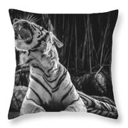 White Tiger. Growl. Throw Pillow