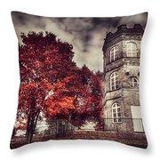 White Tower Of Autumn Throw Pillow