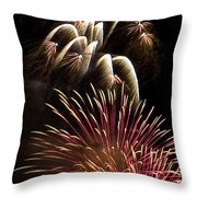 White Trails Throw Pillow