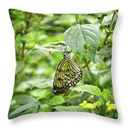 White Tree Nymph Throw Pillow