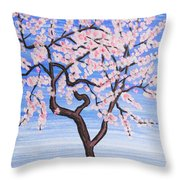 White Tree, Painting Throw Pillow