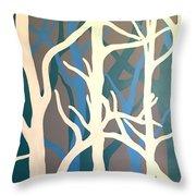 White Trees Throw Pillow