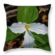 White Trillium 2 Throw Pillow