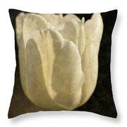 White Tulip With Texture Throw Pillow