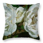 White Twin Flowers Throw Pillow