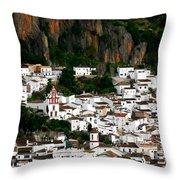 White Village Of Ubrique Spain Throw Pillow