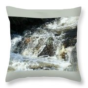 White Water Throw Pillow