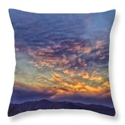 White Water Draw Sunset Throw Pillow