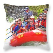 July In Oregon, White Water Rafting Throw Pillow