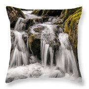 White Water Rapids Throw Pillow