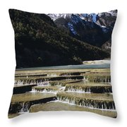 White Water River - Lijiang Throw Pillow