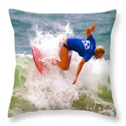 White Water Time Throw Pillow