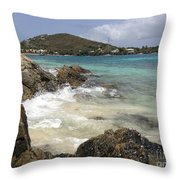 White Waves Crashing Throw Pillow