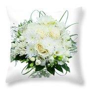 Wedding Bouquet  Throw Pillow