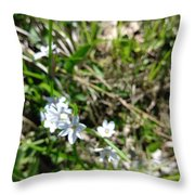 White Wild Flower Throw Pillow