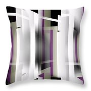 White With Purple Trim Throw Pillow