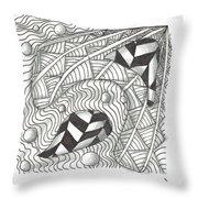 White Zen 18 Throw Pillow