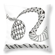 White Zen 20 Throw Pillow