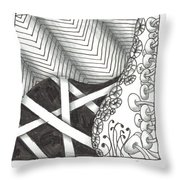 White Zen 21 Throw Pillow