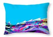 Whitecaps Throw Pillow