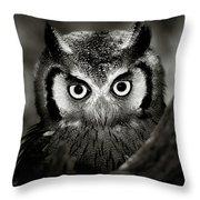 Whitefaced Owl Throw Pillow