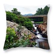 Whitefish Falls Throw Pillow
