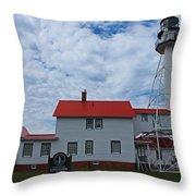 Whitefish Point Lighthouse I Throw Pillow