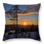 Whitefish Sunset Throw Pillow