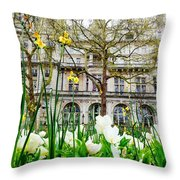 Whitehall Gardens Throw Pillow