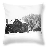 Whiteout At Strawbery Banke Throw Pillow