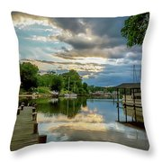 White's Cove Reflections Throw Pillow