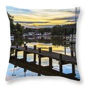 White's Cove Sunset Throw Pillow