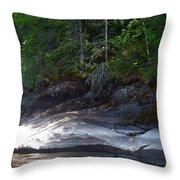Whiteshell Provincial Park Lakeshore Throw Pillow